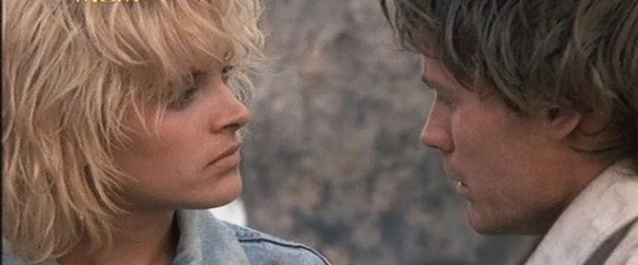 Sonny (Michael Griffin) is smitten with Rose (Alexandra Powers) in the oddball psychodrama, Sonny Boy (1989)