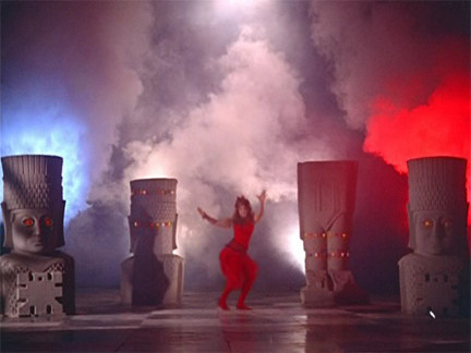 Helen's amazing tiki god/smokepot number in Gumnaam (1965), a wacky Bollywood ripoff of Agatha Christie's Ten Little Indians