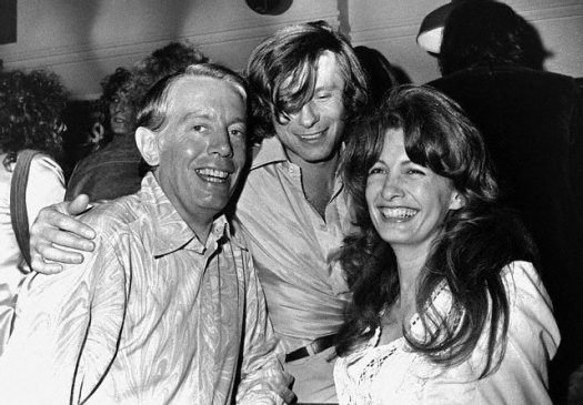 The English theatre critic Kenneth Tynan (left) with his wife, Kathleen, and the Polish filmmaker Roman Polanski (c), 1971. Image by © Hulton-Deutsch Collection/CORBIS