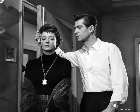 Maggie Smith and George Nader star in Nowhere to Go (1958), directed by Seth Holt