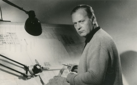 Curd Jurgens as German scientist Wernher von Braum in I Aim at the Stars (1960), directed by J. Lee Thompson