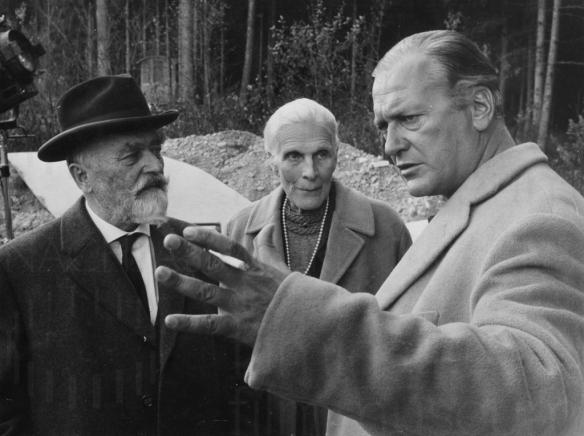 Curd Jurgens (right) stars in a biography of scientist Wernher von Braun - I Aim at the Stars (1960)