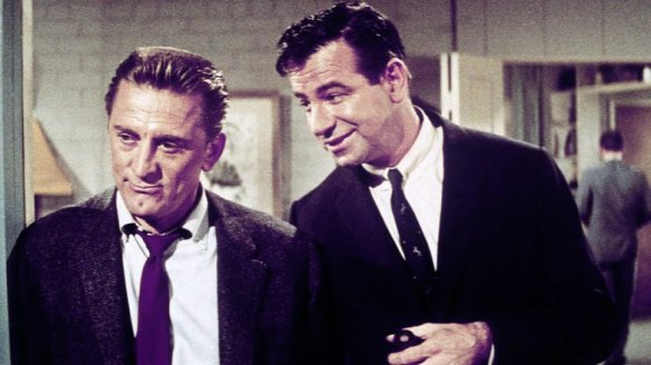 Kirk Douglas & Walter Matthau play dissatisfied husbands in suburbia in Strangers When We Meet (1960).