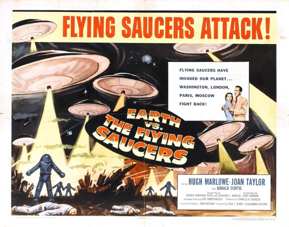 Earth vs. the Flying Saucers film poster