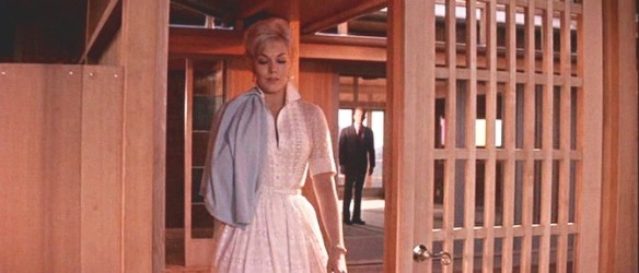 Kim Novak in a scene from Strangers When We Meet (1960) with art direction by Ross Bellah (working with architect Carl Anderson).