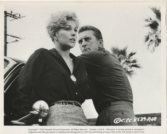 Kim Novak & Kirk Douglas star in the 1960 soap opera, Strangers When We Meet, directed by Richard Quine