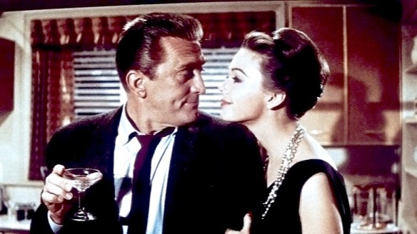 Happy hour at the Coe household in Strangers When We Meet (1960), starring Kirk Douglas and Barbara Rush