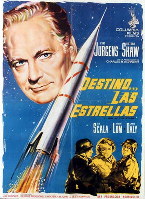 Spanish film poster for Ii Aim at the Stars (1960)