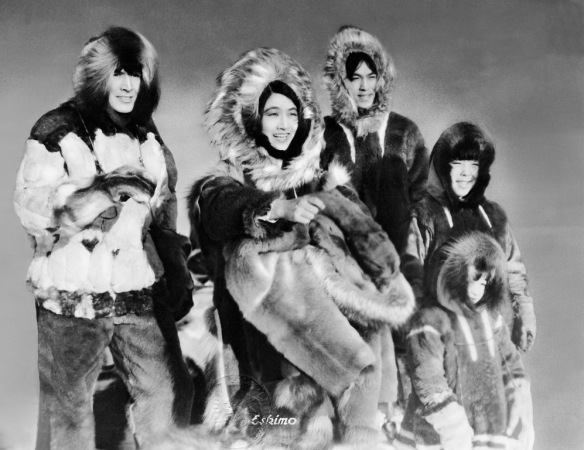 Ray Mala (left) as the title character Eskimo with his on-screen family