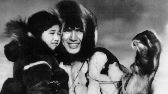 Alaskan actor Ray Mala (aka Mala, on right) stars in the 1933 MGM film ESKIMO.