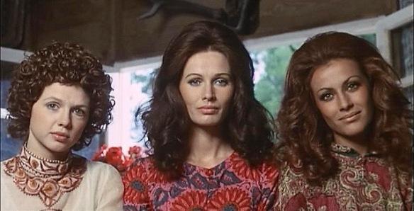 (from left to right) Haydee Politoff, Ida Galli and Silvia Monti in Queens of Evil (aka La Regine, 1970)