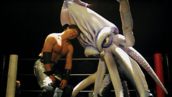 Boxing films like Rocky become fodder for director/writer Minoru Kawasaki in the demented satire The Calamari Wrestler (2004).