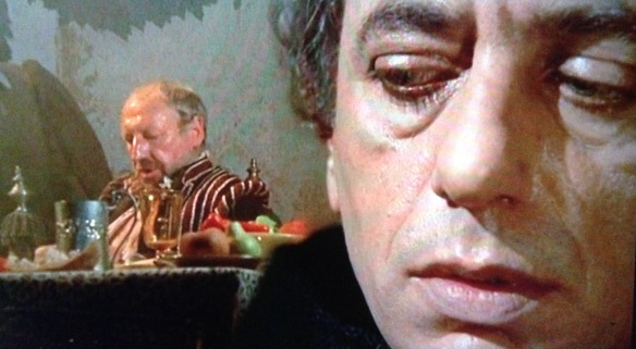 Cardinal Lanciani (Raymond Pellegrin) is aware of Francesco Cenci's cruelty but is paid to turn a blind eye to it in Beatrice Cenci (1969), directed by Lucio Fulci.