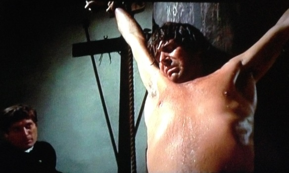 Tomas Milian as Olimpo Calvetti being tortured in Beatrice Cenci (1969).