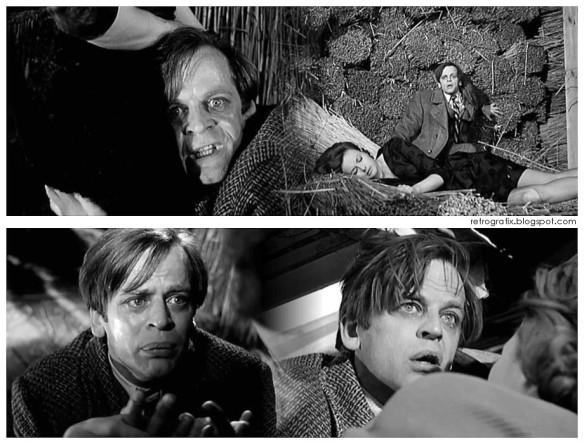 The many faces of Klaus Kinski in the 1962 German film, Der Rote Rausch, directed by Wolfgang Schleif.