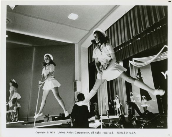 A scene of beauty contestants performing a production number from the satire Smile (1975)