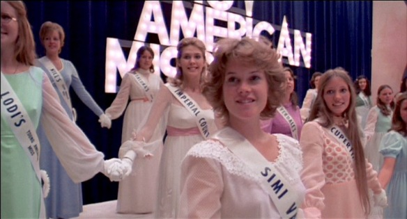 A young Melanie Griffith (center) plays a beauty pageant contestant in the 1975 satire, Smile