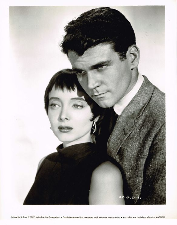 Carolyn Jones and Don Murray in a publicity still for The Bachelor Party (1957), directed by Delbert Mann