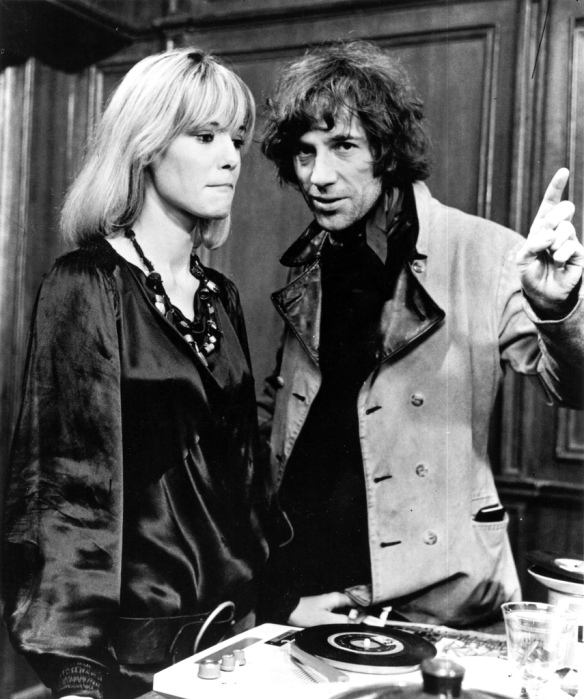 Anita Pallenberg and director-screenwriter on the set of Performance (1970).