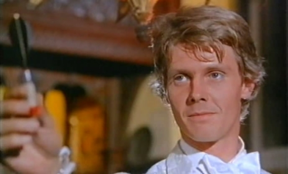 James Fox plays a decadent hipster who plots to rob his tycoon father in the swinging sixties caper film, Duffy.