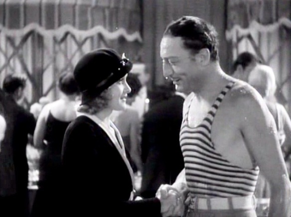 Marian Marsh and Warren William at a wild penthouse swimming party in Under Eighteen (1931).