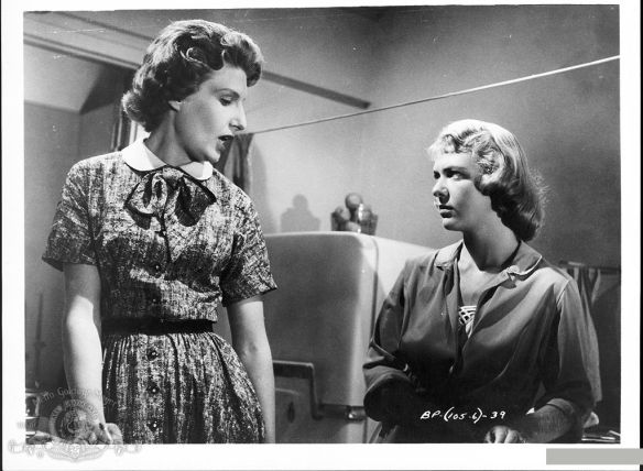 Nancy Marchand (left) makes her feature film debut in The Bachelor Party (1957), written by Paddy Chayefsky.
