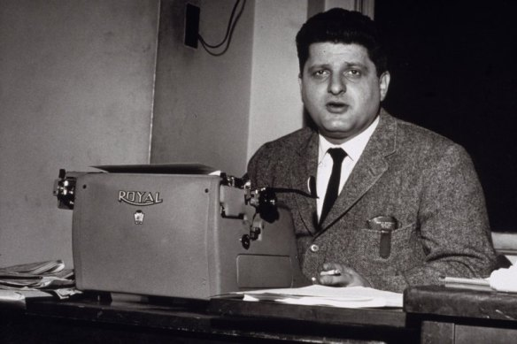 Paddy Chayefsky at his typewriter circa 1950s.