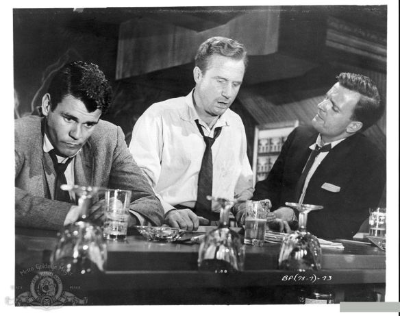 Don Murray (left), Jack Warden (center) and Philip Abbott in The Bachelor Party (1957).