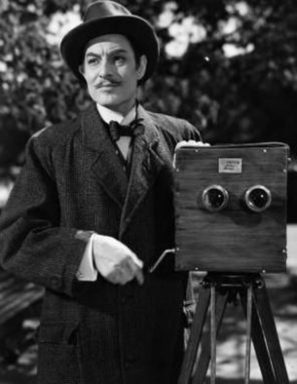 Robert Donat as obscure film pioneer William Friese-Greene in the 1951 British biopix, The Magic Box.