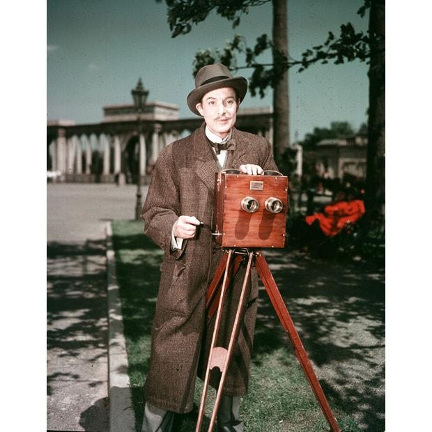 Robert Donat plays film pioneer William Friese-Greene in The Magic Box (1951), directed by John Boulting.