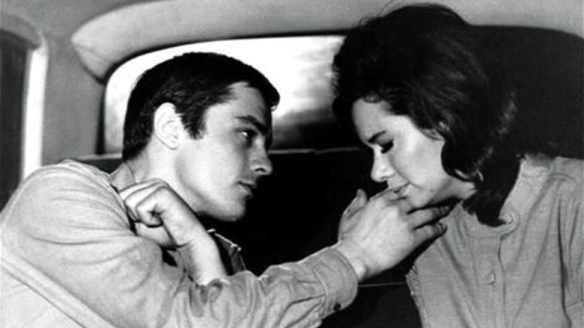 Alain Delon and Lea Massari play a couple on the run from the OAS in Alain Cavalier's L'Insoumis (1964).