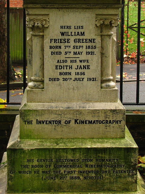 The Gravestone of William Friese-Greene